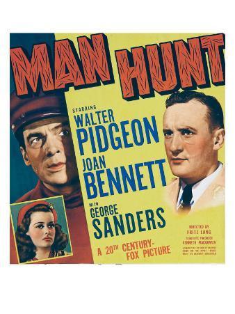 Man Hunt, Walter Pidgeon, Joan Bennett, 1941