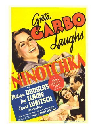 Ninotchka, Greta Garbo, Greta Garbo, Melvyn Douglas on Midget Window Card, 1939