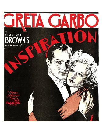 Inspiration, Robert Montgomery, Greta Garbo on Window Card, 1931