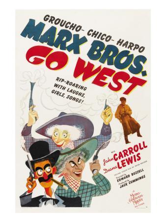 Go West, Groucho Marx, Harpo Marx, Chico Marx, Diana Lewis, 1940