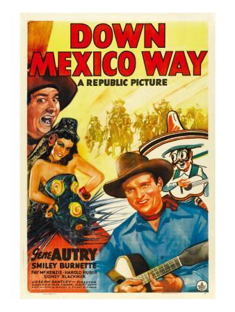 Down Mexico Way, Smiley Burnette, Fay Mckenzie, Gene Autry, 1941