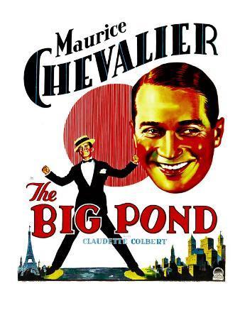 The Big Pond, Maurice Chevalier on Window Card, 1930