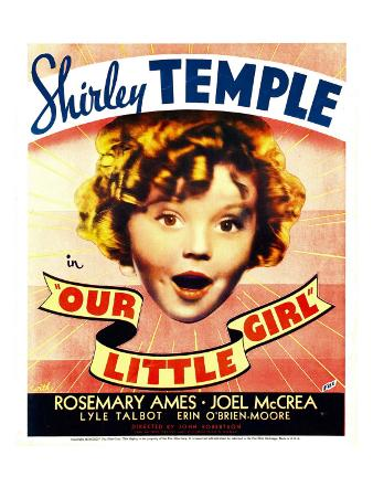 Our Little Girl, Shirley Temple on Window Card, 1935