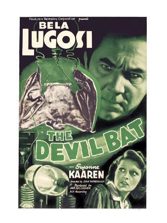 The Devil Bat, Bela Lugosi (Top), Suzanne Kaaren (Bottom), 1940
