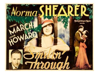 Smilin' Through, Leslie Howard, Norma Shearer, 1932