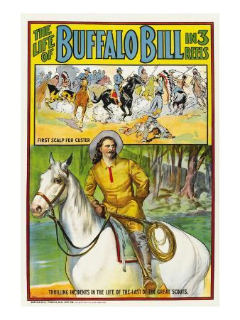 The Life of Buffalo Bill, Poster Art, 1912