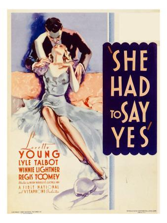 She Had to Say Yes, Lyle Talbot, Loretta Young on Midget Window Card, 1933