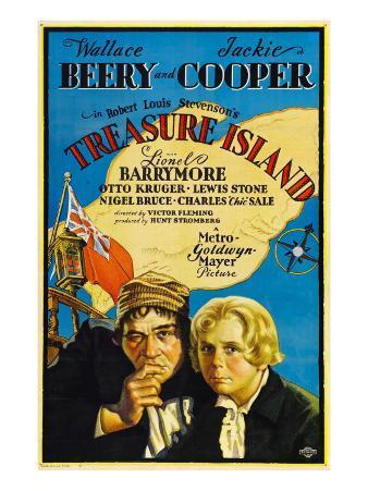 Treasure Island, Wallace Beery, Jackie Cooper, 1934