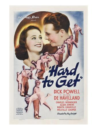 Hard to Get, Olivia De Havilland, Dick Powell, 1938