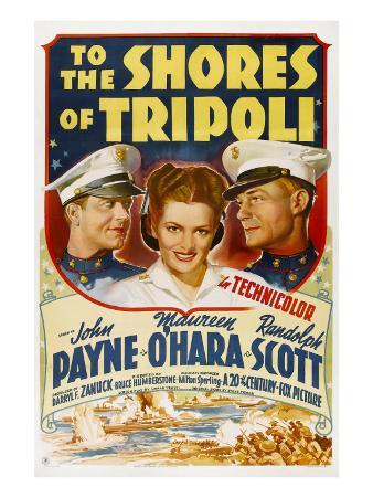 To the Shores of Tripoli, John Payne, Maureen O'Hara, Randolph Scott, 1942