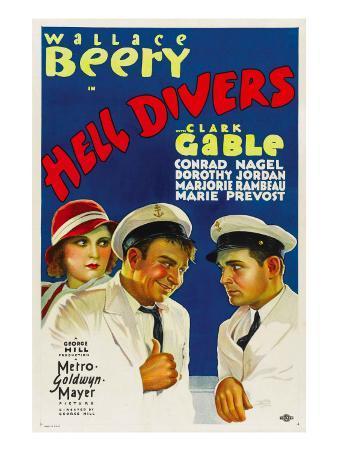 Hell Divers, Dorothy Jordan, Wallace Beery, Clark Gable, 1932