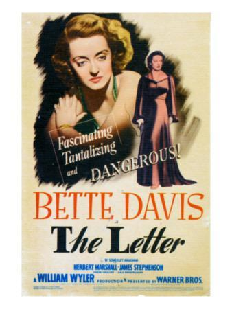 The Letter, Bette Davis on Midget Window Card, 1941