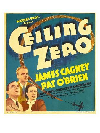 Ceiling Zero, Pat O'Brien, James Cagney, June Travis on Window Card, 1936