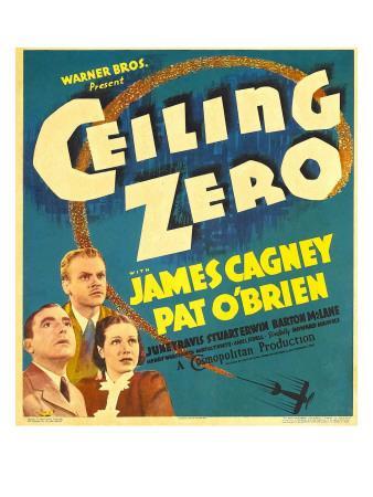 Ceiling Zero, Pat O'Brien, James Cagney, June Travis on Window Card, 1936
