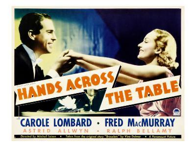 Hands across the Table, Fred Macmurray, Carole Lombard, 1935
