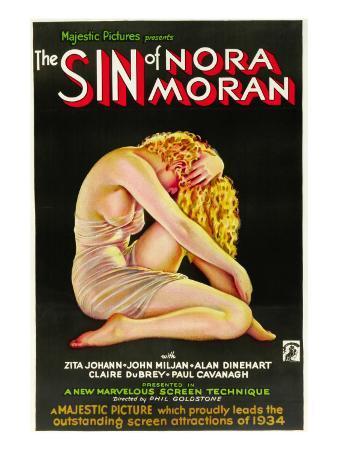The Sin of Nora Moran, Poster Art, 1933