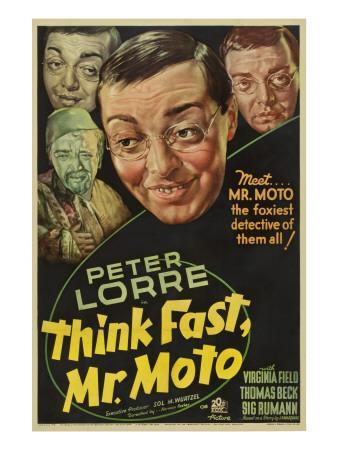 Think Fast, Mr. Moto, Peter Lorre, 1937