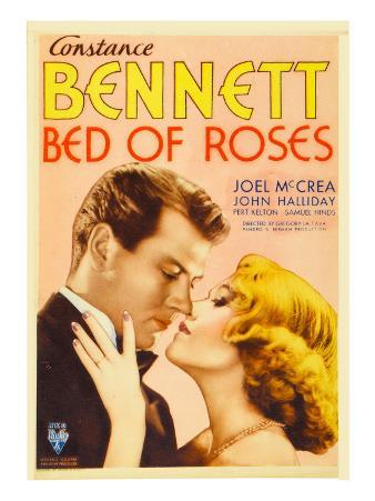 Bed of Roses, Joel Mccrea, Constance Bennett on Midget Window Card, 1933