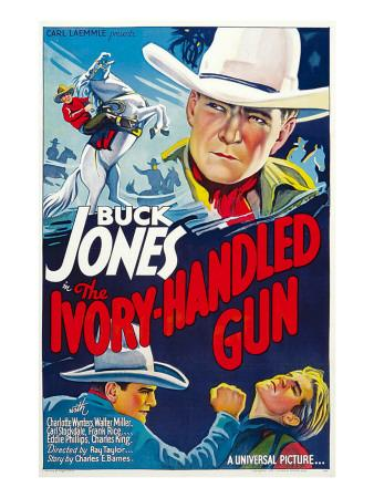 The Ivory-Handled Gun, Top and Bottom Left: Buck Jones, 1935