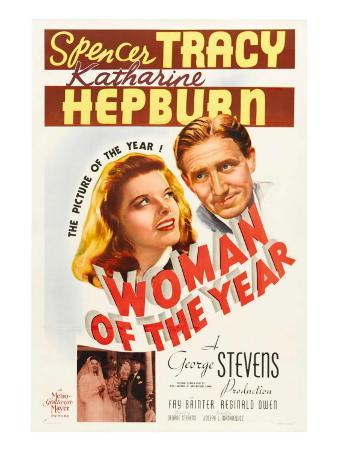 Woman of the Year, (Poster Art), Katharine Hepburn, Spencer Tracy, 1942