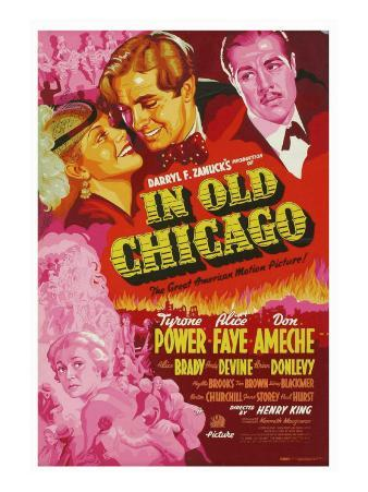 In Old Chicago, Alice Faye, Tyrone Power, Don Ameche, 1937