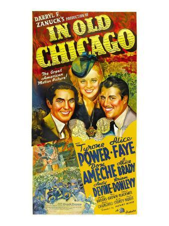 In Old Chicago, Tyrone Power, Alice Faye, Don Ameche, 1937