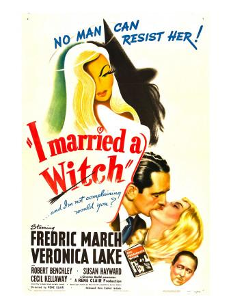 I Married a Witch, Fredric March, Veronica Lake, Robert Benchley, 1942