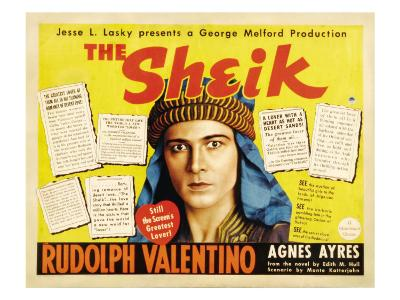 The Sheik, (Re-Issue 1938 Half-Sheet Poster), Rudolph Valentino, 1921