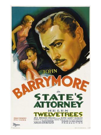 State's Attorney, Helen Twelvetrees, John Barrymore, 1932