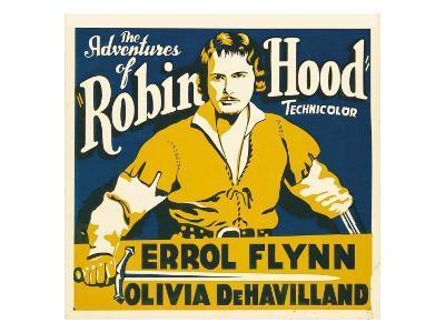 The Adventures of Robin Hood, Errol Flynn on Jumbo Window Card, 1938
