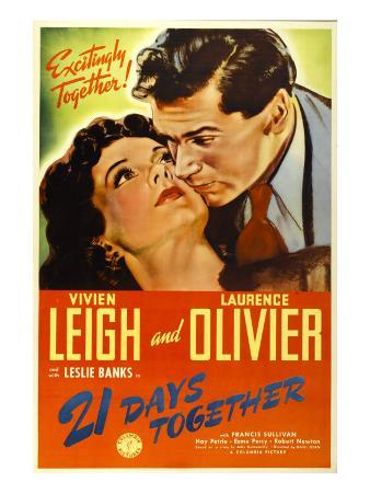 21 Days Together (Aka 21 Days), Vivien Leigh, Laurence Olivier, 1940