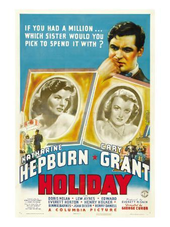 Holiday, Cary Grant, Katharine Hepburn, Doris Nolan, 1938
