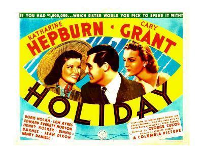 Holiday, Katharine Hepburn, Cary Grant, Doris Nolan, 1938