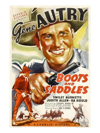Boots and Saddles, Gene Autry, 1937