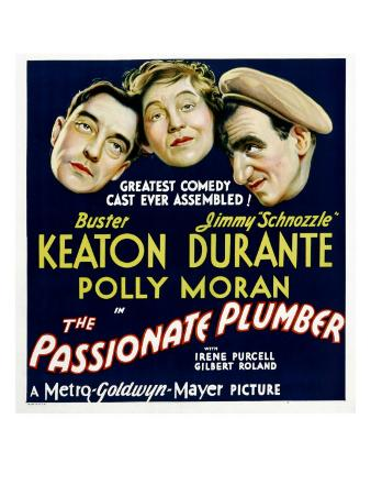 Passionate Plumber, Buster Keaton, Polly Moran, Jimmy Durante, 1932