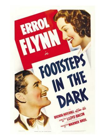 Footsteps in the Dark, Errol Flynn, Brenda Marshall, 1941