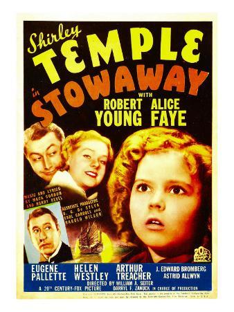 Stowaway, Robert Young, Alice Faye, Shirley Temple, 1936