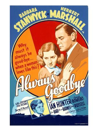 Always Goodbye, Barbara Stanwyck, Herbert Marshall, 1938