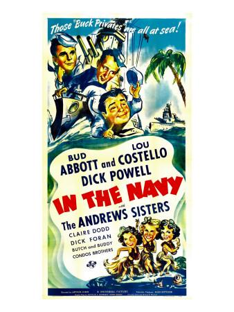 In the Navy, Dick Powell, Bud Abbott, Lou Costello, 1941