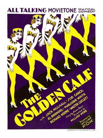 The Golden Calf (Aka Her Golden Calf), Window Card, 1930