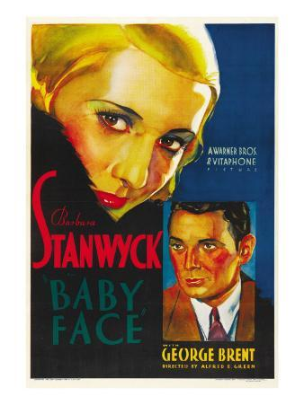 Baby Face, Barbara Stanwyck, George Brent, 1933
