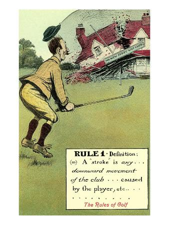 Collapsing Clubhouse, Rules of Golf