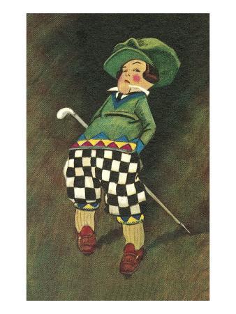 Smirking Little Golfer
