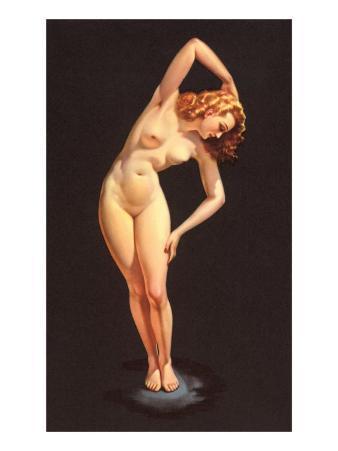 Nude Doing Calisthenics
