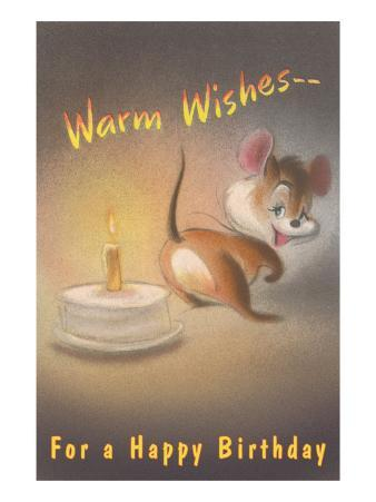 Warm Wishes for a Happy Birthday, Mouse and Candle