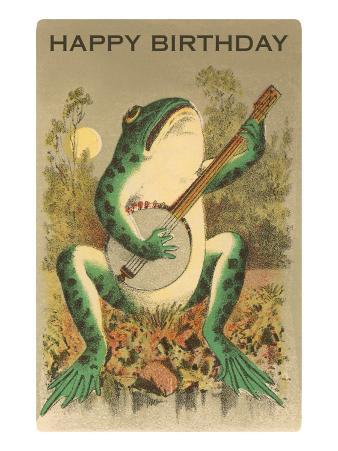 Happy Birthday, Frog with Banjo