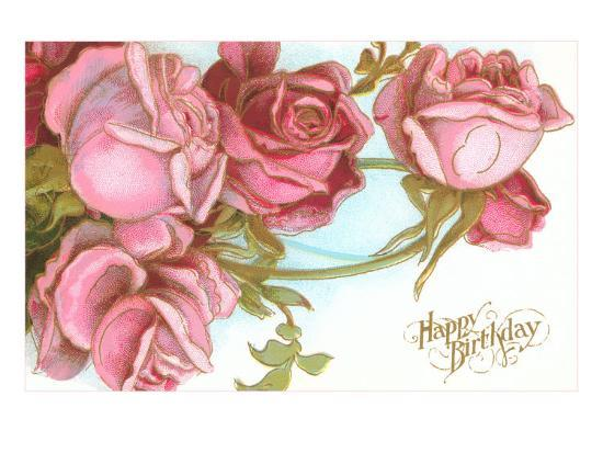 Happy Birthday Roses Poster At AllPosters
