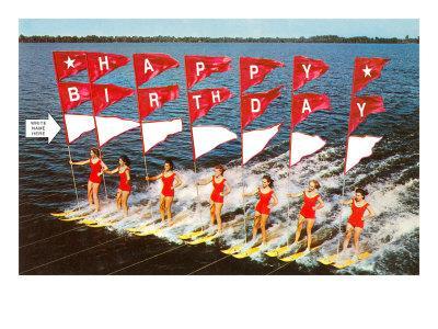 Happy Birthday, Water Skiers (Write Name Here)