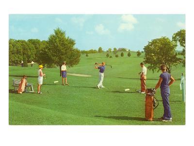 Coed Golfing