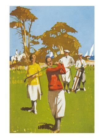 Golf Painting